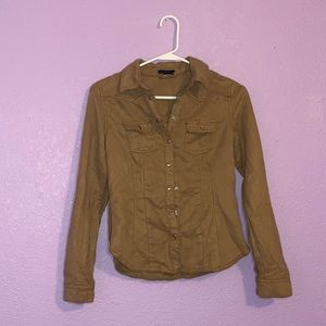 H&M size four brown button top